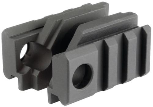 Midwest Tactical Light Mounts with Two Mil-Spec Picatinny Rails with Two Anti-Rotation Sling Swivel Sockets Black