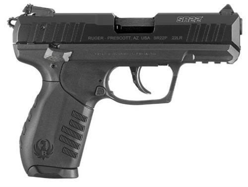 """Ruger TALO SR22, Semi-automatic, 22 LR, 3.5"""" Barrel, Polymer Frame, Black, 3 Dot Adjustable Sights, 2 Magazines, 10Rd"""