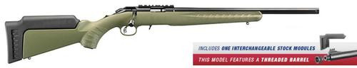 "Ruger American Rifle Predator Bolt 22 WMR 18"" Threaded Barrel,,  Synthetic ODG Stock Blued,  9 rd"