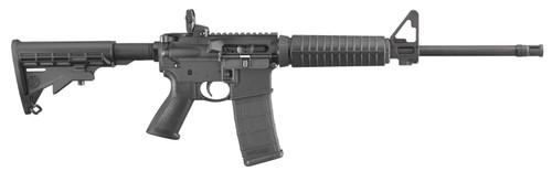 """Ruger AR-556 .223/5.56, 16"""" Barrel, M4 Flat Top, Flip-Up Sights, Black, 30rd"""