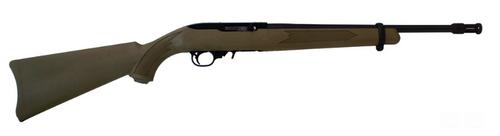 """Ruger 10/22 Tactical 22LR 16"""" Barrel, Coyote Brown, Flash Hider, 10 Rd Mag"""