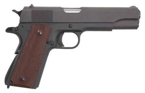 "Auto Ordnance 1911A1 45 ACP, 5"", WWI, I Parkerized, Plastic Grips, Blemished"