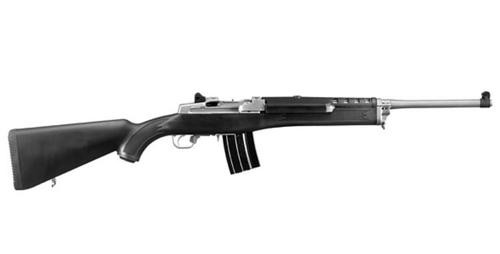 "Ruger Mini-14 Ranch Rifle 5.56 Nato, 18.5"" Barrel Matte Stainless, Black Synth Stock, 20rd Mag"
