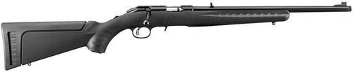 "Ruger American Rimfire Standard, TB Bolt 22WMR 18"" Barrel, Black Synthetic Stock Blued, 9rd"