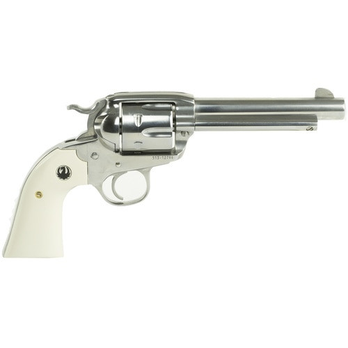 "Ruger Vaquero Bisley 357 Mag/38 Special, 5.5"" Barrel, SS Finish, Ivory Grips"