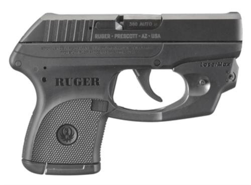Ruger LCPLM 380 Semi Auto Pistol With Lasermax Centerfire Sight, Blued Finish,,  Capacity,  6 rd