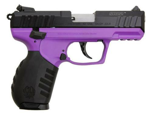 Ruger SR22 22LR Lady Purple 10 rd Mag TALO Exclusive