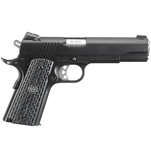 "Ruger SR1911 45 ACP, 5"", 8 Rds, Tritium Night Sights, Micarta Grips, Black Nitride Finish"