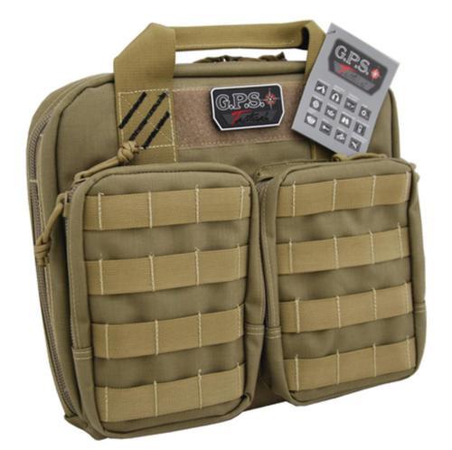 GPS Tactical Double +2 Pistol Case Tan