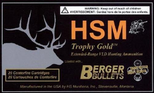 HSM Trophy Gold 7mm Rem Mag BTHP 168 gr, 20Rds