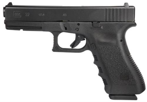 """Glock, 22, Safe Action, 40S&W, 4.49"""" Barrel, Polymer Frame, Matte Finish, Fixed Sights, 15Rd, 2 Magazines, Glock OEM Rail, Right Hand"""