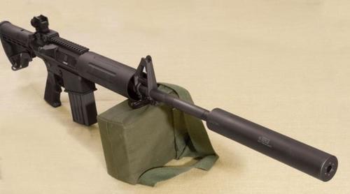 "Gemtech HVT .308/7.62mm Suppressor, 7.5"", Thread Mount, 5/8-24 TPI"
