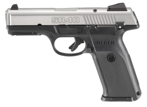 Ruger SR40 40SW, Stainless Slide, 15RD Mag
