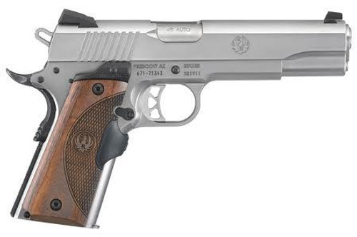 "Ruger SR1911 45 ACP 5"" Barrel Crimson Trace Lasergrip 7rd and 8rd Mags"