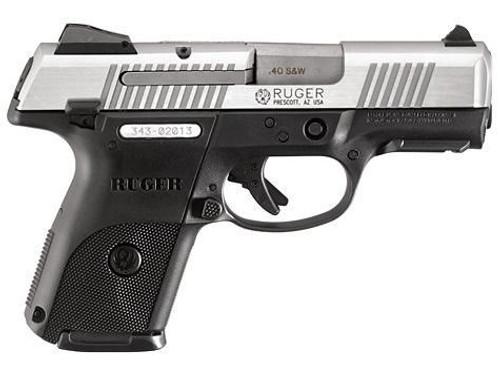 """Ruger SR40C 3.5"""" Pistol, SS, 15 Rnd Magazine"""