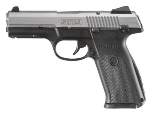 Ruger SR9 Pistol, 9mm, Stainless Steel, 10 Rd Mag