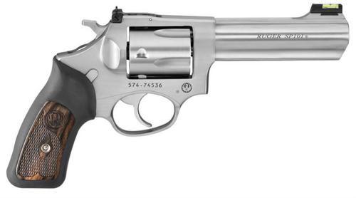 "Ruger SP101 327 Federal Magnum, 4"", Fiber Optic Sight, Stainless Steel"
