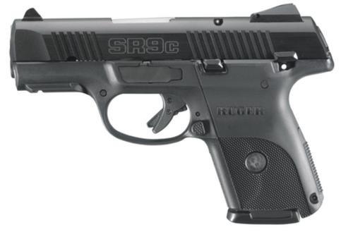 """Ruger SR9C Compact Pistol, 9mm, Black Alloy Slide, 3.5"""", 10 Rd Mags"""