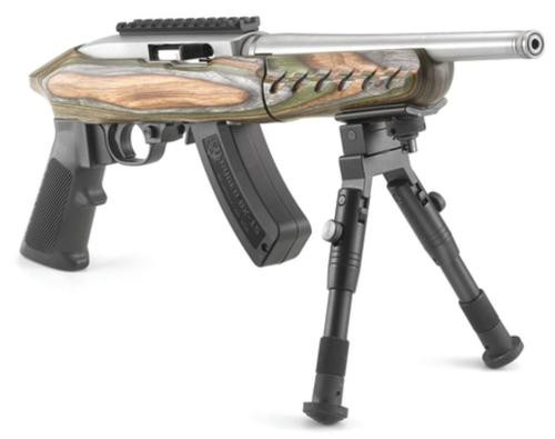 "Ruger Charger Takedown 22LR, 10"" Threaded Barrel, SS Finish, Green Mtn Laminate"