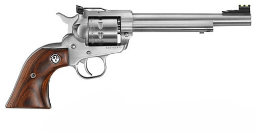 "Ruger Single-Nine 22 Magnum Revolver, Satin Stainless Steel, 9 shot, 6.5"" Barrel"