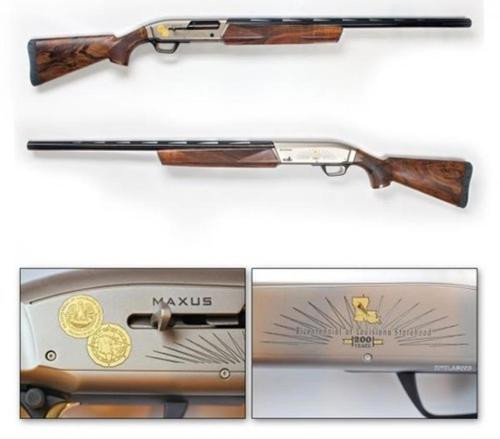 "Browning Maxus Hunter Louisiana Bicentennial Edition 12 ga 28"" High Grade Walnut Stock, Gloss Finish"