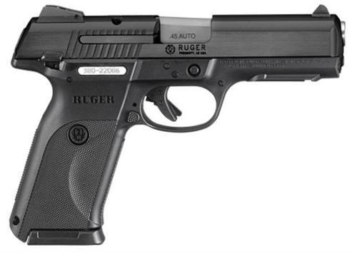 Ruger SR45 Pistol, 45 ACP, Black, 10rd