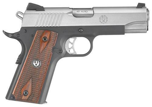 "Ruger SR1911 Lightweight Commander-Style 45 ACP, 4"" Barrel, Novak Sights, Thin Grips, 7rd Mag"