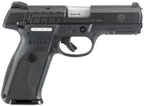 "Ruger SR9E Standard Double 9mm 4.1"" Barrel, Black Polymer Grip Blued, 10rd"