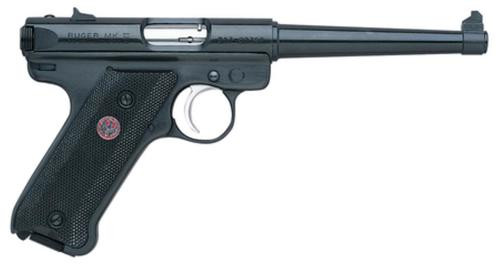 Ruger MKIII4 22LR, 4 Inch, Fixed Sights, Blued