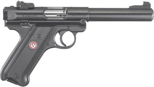 "Ruger Mark IV Pistol, 22LR, 5.5"", Black Synthetic, Blued, 10rd, Adjustable Sights"