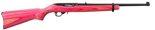 "Ruger 10/22 Semi Auto Rifle, Pink Laminate Stock, Blue, 18.5"" Barrel"