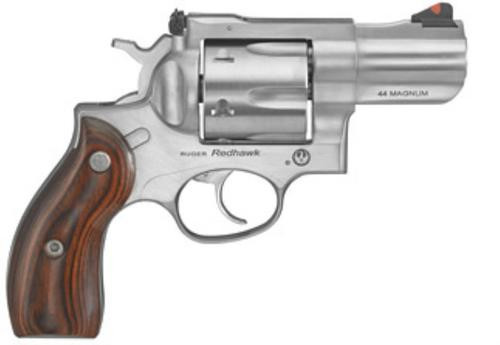 "Ruger Redhawk Kodiak Backpack Revolver, 44 Mag 2.75"" Wood Grips Satin Nickel Finish"