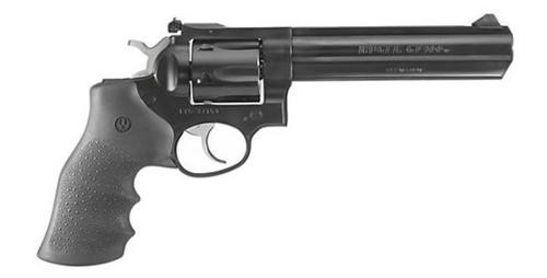 "Ruger GP100 357 Mag/38 Spl Alloy Steel 6"" Heavy Barrel 6rd Black Hogue Monogrip Blued"
