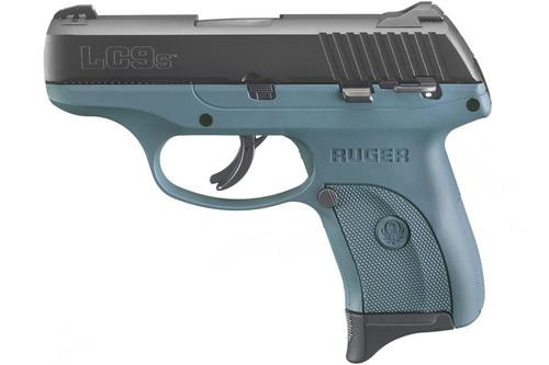 "Ruger LC9s 9mm, 3.12"", 7rd, Fixed Sights, Titanium Blue Frame"