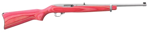 Ruger 10/22 Pink Laminated Stock/Matte Stainless Barrel 18.5""