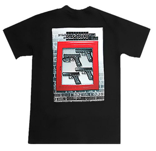 Glock In Case of Emergency T-Shirt Medium Cotton Gray Short Sleeve