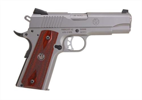Ruger SR1911 Compact Commander 45 ACP, SS, 4.25""