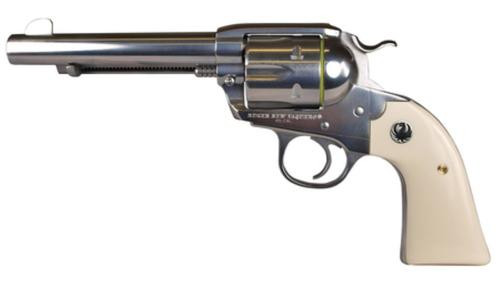 "Ruger New Vaquero Bisley .45 Colt 5.5"" Barrel High Gloss SS Finish 6rd"