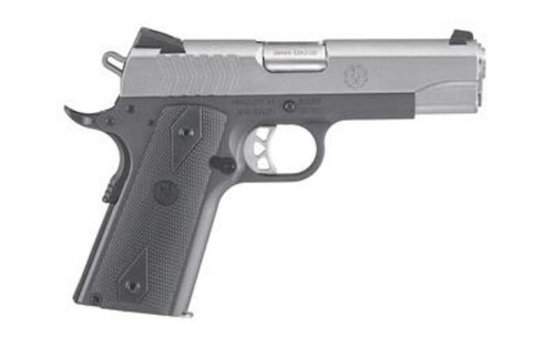 "Ruger SR1911 Commander Pistol, 9mm, 4.25"", Rubber Grip, 9rd, Two Tone"