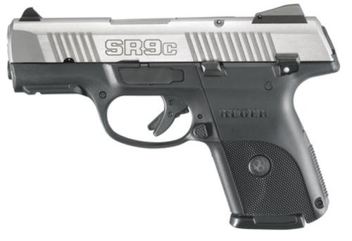 RUGER SR9C Compact Pistol, STAINLESS Steel, 10 Rd Mag