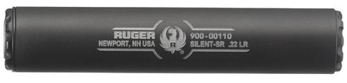 Ruger Silent-SR 22LR Silencer Titanium 1/2x28 Black Cerakote Finish