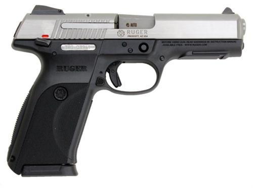 Ruger SR45 Pistol, 45 ACP, SS Slide, 10 Rnd Mag