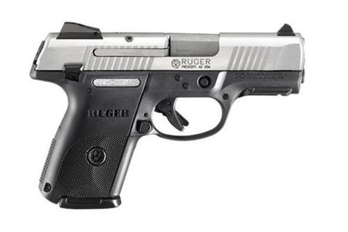 Ruger SR9C 9mm Stainless Steel, 3 10rd Mags