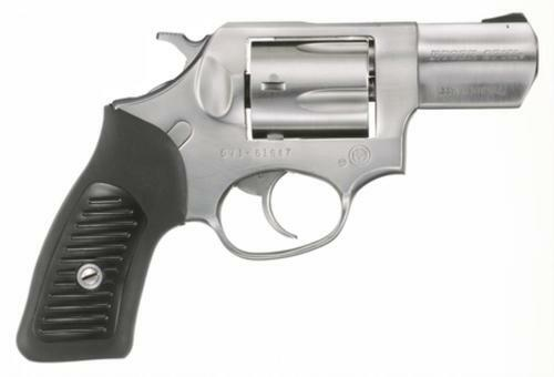 "Ruger SP101 357 Mag, 2.25"", Rubber Grip, Satin Fixed Sights, Stainless, 5rd"