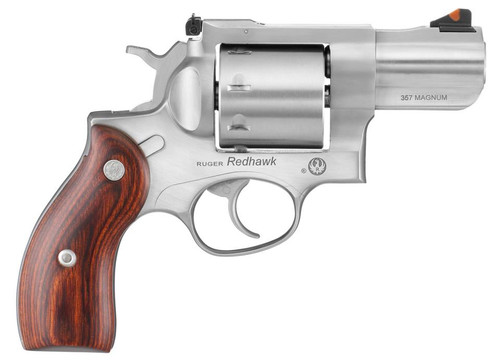 "Ruger Redhawk 357 Magnum/38 Spl 2.75"" Barrel Satin SS Wood Grip 8rd"