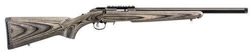 Ruger American Target .17 HMR 18 Inch Threaded Barrel Satin Blue Finish Picatinny Rail Black Laminate Stock 10 Round