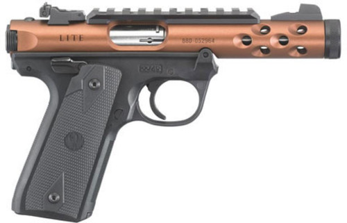"Ruger Mark IV 22/45 Lite, 22LR, 4.4"", Threaded, Bronze Anodized, 10rd"