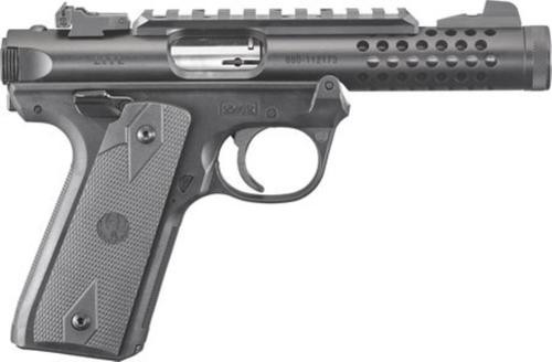 "Ruger Mark IV 22LR, 4.4"" Threaded Barrel, Black Anodized, 10rd Mag"