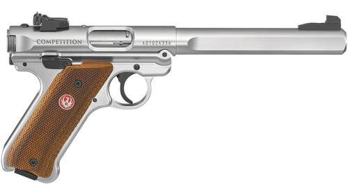 "Ruger Mark IV Competition, 22LR, 6.8"" Barrel, Adustablej Sights, SS"