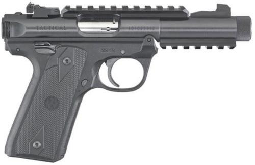 "Ruger Mark IV 22/45 22LR, 4.4"" Barrel, Black Poly Grips, 10rd Mag"